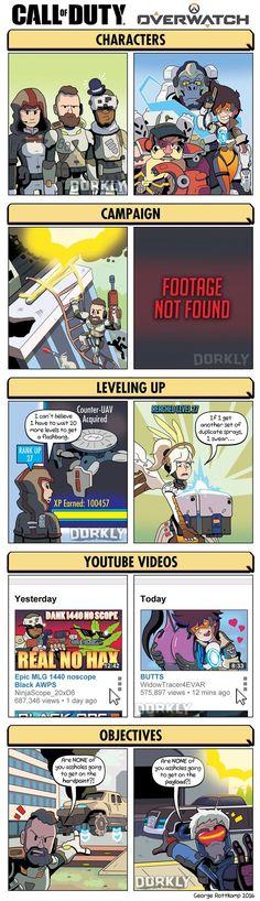CoD vs Overwatch - Imgur