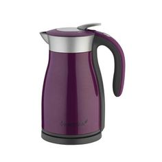 Vektra Eco Kettle The Vektra kettle will keep your water hot for up to 4 hours after boiling. It has a litre capacity and a max energy output of Comes in five colours. Green, purple, white, stainless steel and black.