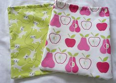 Kid's Wash Bag  •  Free tutorial with pictures on how to make a drawstring pouch in under 60 minutes