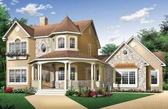 Flexible Victorian Design - 2181DR   Country, Victorian, Canadian, Metric, Photo Gallery, 1st Floor Master Suite, Bonus Room, CAD Available, Den-Office-Library-Study, PDF, Wrap Around Porch, Corner Lot   Architectural Designs