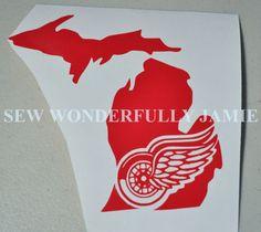 Detroit Red Wings Decal by SewWonderfullyJamie on Etsy, $5.00