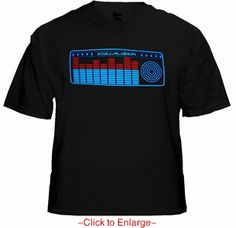 EQ Reactor T-Shirt With Sound Reactive Action. Price $24.99