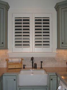 Custom plantation shutters -kitchen