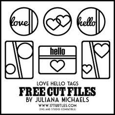 17turtles: Hello Free Cut Files