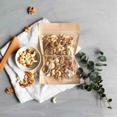 Wholesale gourmet food and snack packaging bags. Food grade stand up pouches for all natural, organic, artisan snack food products & gourmet snacks. Granola, A Food, Food And Drink, Bulk Food, Organic Nuts, Tea Packaging, Specialty Foods, Healthy Breakfast Recipes, Food Design