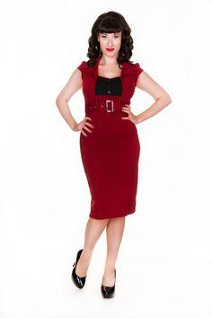 """Lindy Bop 'Wynona"""" Vintage 1950 Secrétaire Office Style Robe Crayon: Amazon.fr: Vêtements et accessoires"""