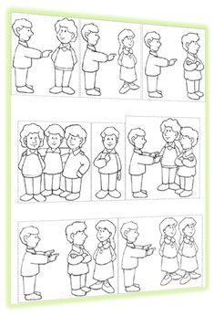 "Images for teaching SUBJECT PRONOUNS!! Les pronoms sujets Click on ""L'affiche"" and print! Cut out each one and enlarge. Have students color, laminate, et voilà! What about ""on""?"
