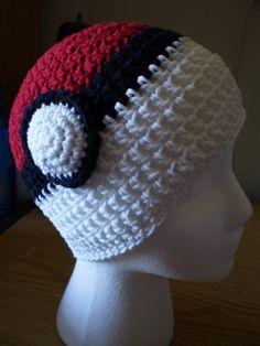 Crochet a pokemon hat Crochet Crafts, Crochet Projects, Knit Crochet, Learn Crochet, Crochet Geek, Knitted Hat, Yarn Projects, Dandy, Pokemon Beanie