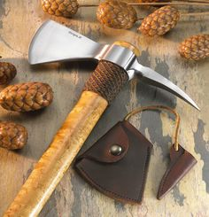 Elite Knives by John Horrigan wrapped spike tomahawk