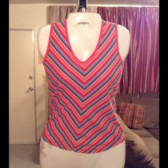 "Tommy Hilfiger Top Tommy Hilfiger Top is made of 100% Cotton. Size Small. The colors are: pink/white/blue/red. Laying flat ""16.5. Length ""23.5.  This item is NOT new, It is used and in Good condition. Authentic and from a Smoke And Pet free home. All Offers through the offer button ONLY.  Ask any questions BEFORE purchase. Please use the Offer button, I WILL NOT negotiate in the comment section. Thank You Tommy Hilfiger Tops"