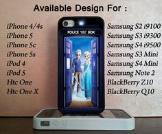 Elsa and Jack Tardis For iPhone 4/4s/5/5c/5s by ManchingDollart. YES!!! I NEED THIS MORE THAN ANYONE CAN UNDERSTAND!!!!