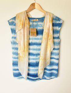 Idea: silk striped shirt  tinker maker top