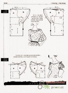اكمام تفصيل مجاني Manches patron gratuit à partir de patron de base Free pattern… Sewing Patterns Free, Vintage Patterns, Sewing Tutorials, Vintage Sewing, Clothing Patterns, Sewing Projects, Free Pattern, Top Pattern, Techniques Couture
