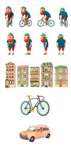 Take Your Bike and Go on Digital Art Served