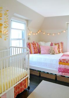 like the cute lighting above the guest bed in the nursery