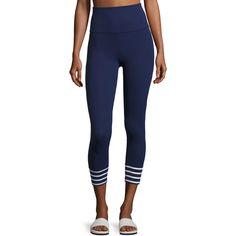 840f1f3fd15 Beyond Yoga x kate spade new york sailing stripe cuff capri leggings ( 110)  ❤