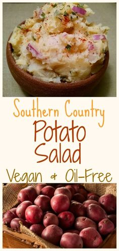 This potato salad recipe is excellent for family gatherings and picnics. No one will ever realize it's a low-fat, healthier vegan version. I promise, if my family can't tell, yours won't either. The secret ingredient is mayo, so I have included my low-fat