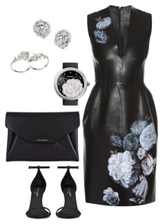 """Vamp"" by shoediva68 on Polyvore featuring Alexander McQueen, Yves Saint Laurent, Givenchy, Apples & Figs and Chanel"