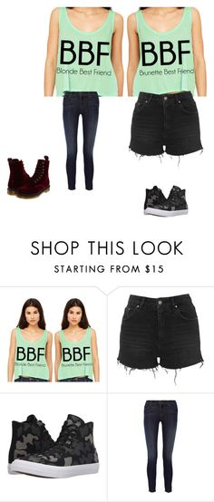 """Bestie outfit(2)"" by hellokitty-780 on Polyvore featuring Topshop, Converse, J Brand and Dr. Martens"