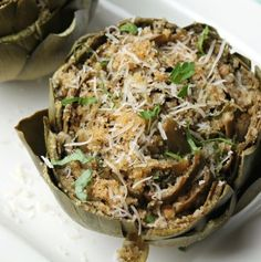 This version of Stuffed Artichokes has all the flavor of the traditional method but is ready in a fraction of the time, using the Instant Pot! Baked Artichoke, Artichoke Recipes, Pressure Cooker Recipes, Pressure Cooking, Crock Pot Cooking, Cooking Recipes, Cooking Time, Vegetable Side Dishes, Vegetable Recipes