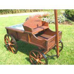 old buckboard wagons   Amish Old Fashioned Large Buckboard Wagon Rustic Finish