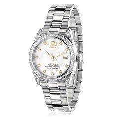 Luxurman Women's Diamond Watch Stainless Steel Tribeca 1.5ct
