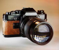 Black Olympus OM10 / 35mm Film SLR / LightBurn Restored Student Camera / Rare 135mm f2.8 Portrait Lens / Price drop from £94.99 to £79.99