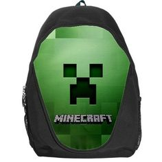 Minecraft personalize , create your own , custom , design your birthday gift backpack , rucksack . bag