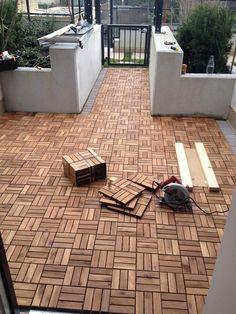 DIY Outdoor Patio Decking with Ikea Platta