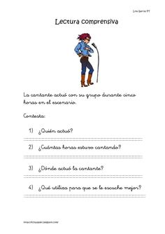 Lecturas comprensivas 06 10 Spanish Classroom, Educational Activities, Learning Spanish, Reading Comprehension, Speech Therapy, Homeschool, Language, 1, Teaching