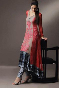 beautiful silhouette. salwar kameez.