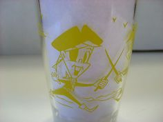 Vintage Hazel Atlas Drinking Glass Tumbler Fantasy Collection Pirates Mint