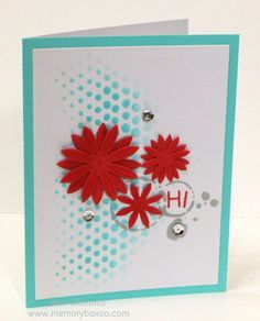 MB  Precious daisies without bow, and 2 stencils  Letters from Happy Birthday die