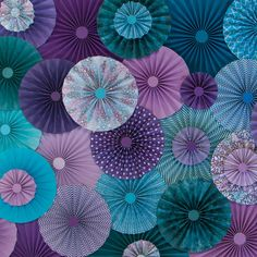 Hey, I found this really awesome Etsy listing at https://www.etsy.com/listing/242750627/10pc-set-of-purple-teal-paper-pinwheels