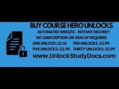 Unlock Study Docs - Course Hero Unlock Service