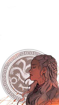 Daenerys Targaryen by Picolo Dessin Game Of Thrones, Arte Game Of Thrones, Game Of Thrones Artwork, Game Of Thrones Fans, Daenerys Targaryen Art, Khaleesi, Fantasy Books, Fantasy Art, Film Manga