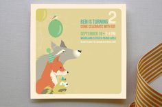 Woodland Celebration Children's Birthday Party Invitations by kadie foppiano at minted.com