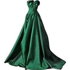 Rami Kadi 2014 - satinee.polyvore.com ❤ liked on Polyvore featuring dresses, gowns, long dress, vestidos, green dress, green evening dresses, green gown, green ball gown and long green dress