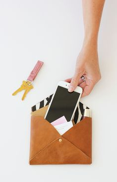 DIY Leather Envelope Clutch | Alice & Lois