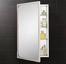 Inspirational Chrome Framed Medicine Cabinet