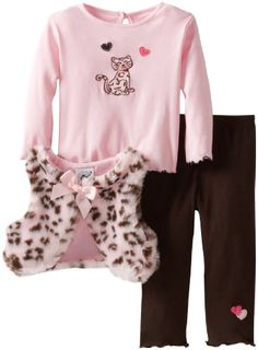 Good Lad Baby-Girls Infant 3 Piece Leopard Vest Pant Set, Pink, 12 Months Good Lad,http://www.amazon.com/dp/B00DQ1V92S/ref=cm_sw_r_pi_dp_AoQptb0DFYE7MRNY