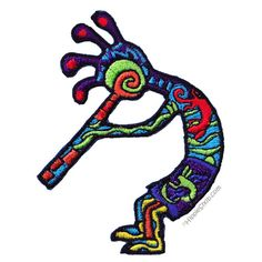 Kokopelli Dancer Patch on Sale for $3.99 at The Hippie Shop