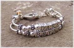 Personalized Bracelet Sterling Silver Custom Bangle Mothers Jewelry MOM Alphabet Beads Gift for Her Grandma Mothers Day