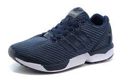 Wholesale Adidas Men Originals ZX Flux Shoes Navy Blue White White Adidas Originals, Adidas Originals Zx Flux, New Nike Air, Nike Air Vapormax, Adidas Zx Flux White, Adidas Shoes, Adidas Men, Black Running Shoes, Shoe Sale