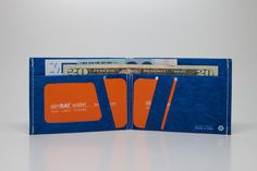 Slim fold wallet - Blue/White-MICRO