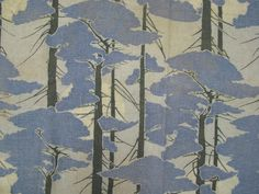 "Yard Goods Fabric c. 1910, tree motif; wool, cotton; on view in ""Nature by Design,"" at the American Textile History Museum, Lowell, MA, September 19, 2015 – January 10, 2016."