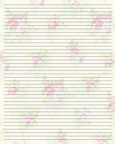Free Printable Paper  Printable Writing Paper  By Lady