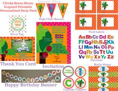 Customized Printable Chicka Chicka Boom Boom by SweetPeaPrintable