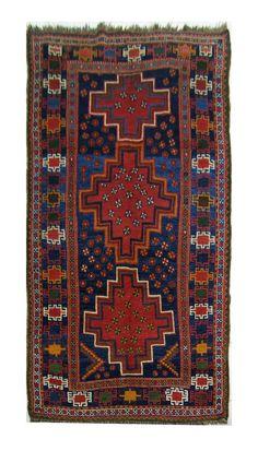 An antique Luri Galleria rug, circa 1880,