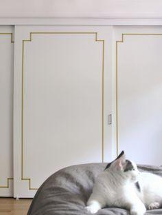 decorative washi tape doors